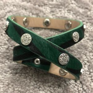 Rustic Cuff Leather Wrap Bracelet